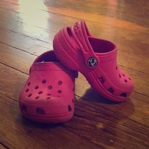 Little pink crocs for baby!